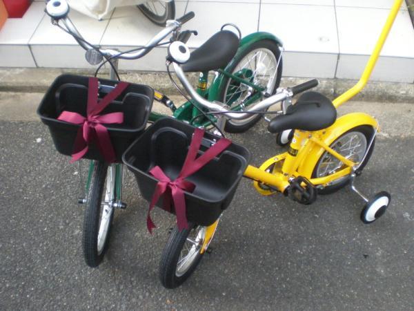 無印の幼児用自転車。12インチと16インチ