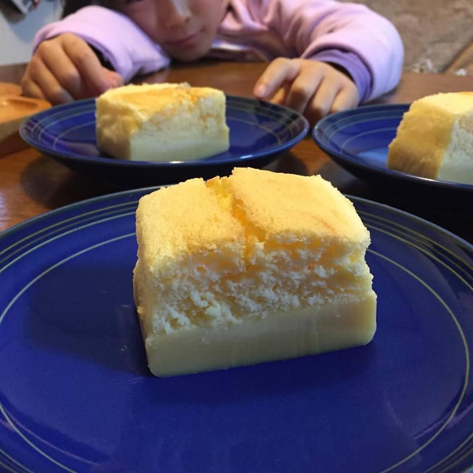サンキュ!ブロガー 桜子さん「流行っているらしい魔法のケーキを焼いてみた!」