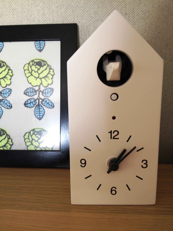 廃盤 希少 訳あり 無印良品 鳩時計・大 テラコッタ 型番:MJ-CCT2