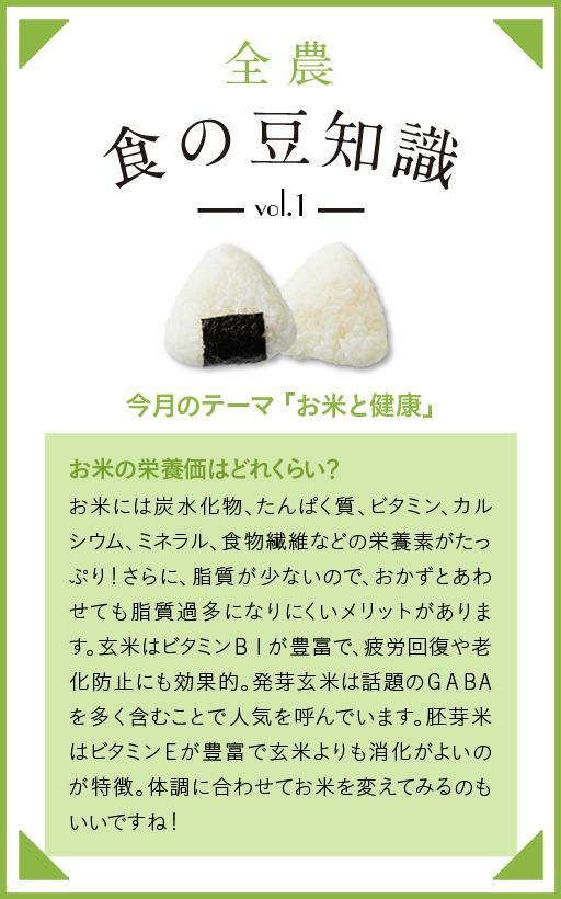 Vol.1 食の豆知識「お米と健康」
