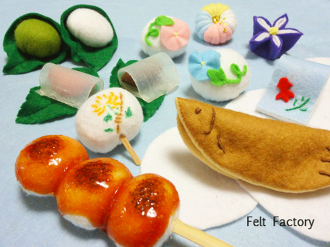 フェルトde夏色和菓子 完成.jpg