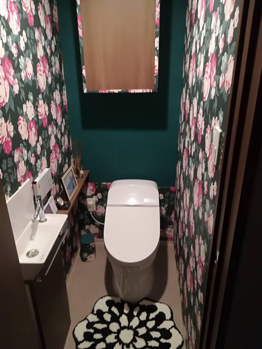 トイレの壁紙変更 りえ さんぽ