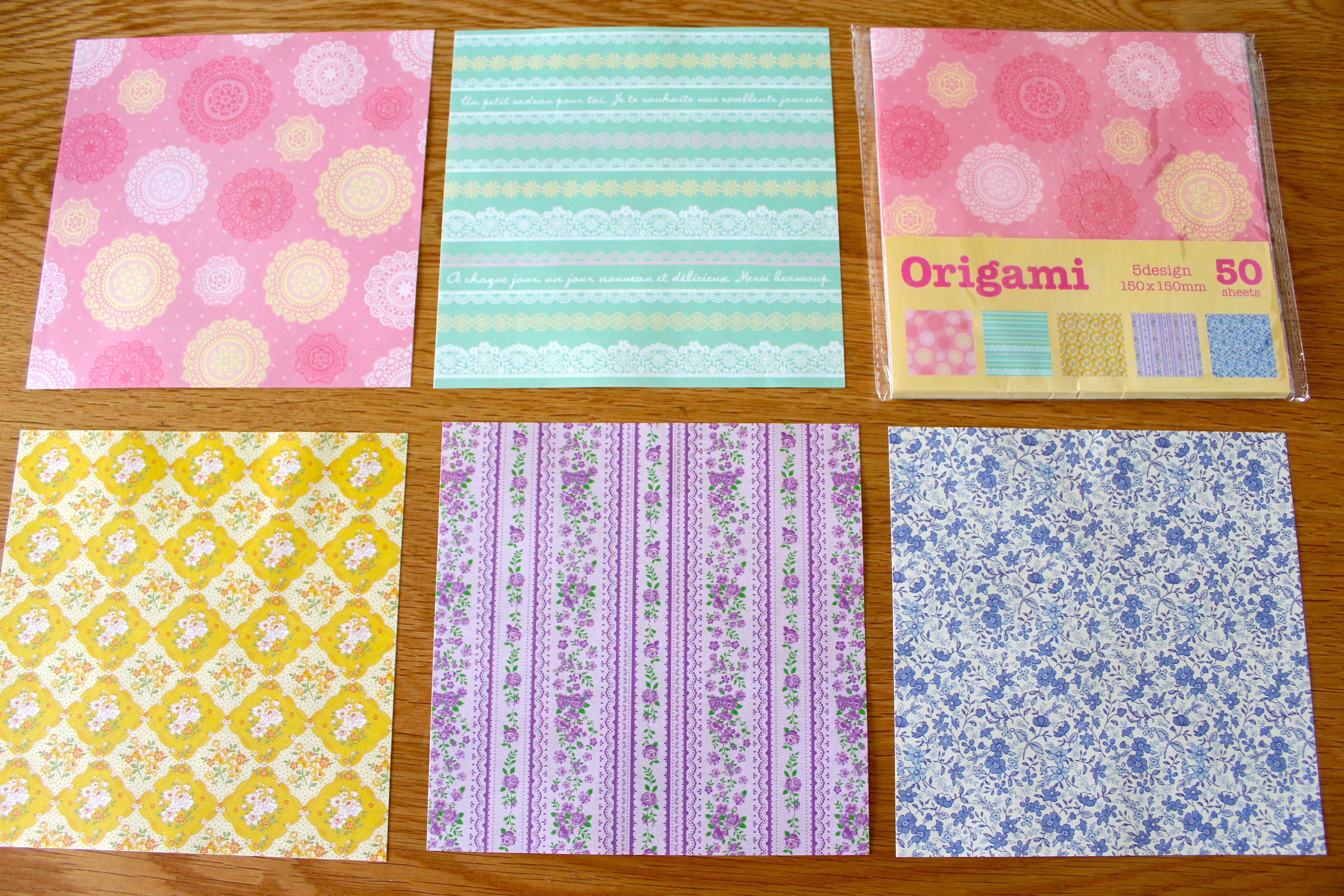 すべての折り紙 折り紙 種類 : セリアのORIGAMIでガーラント ...