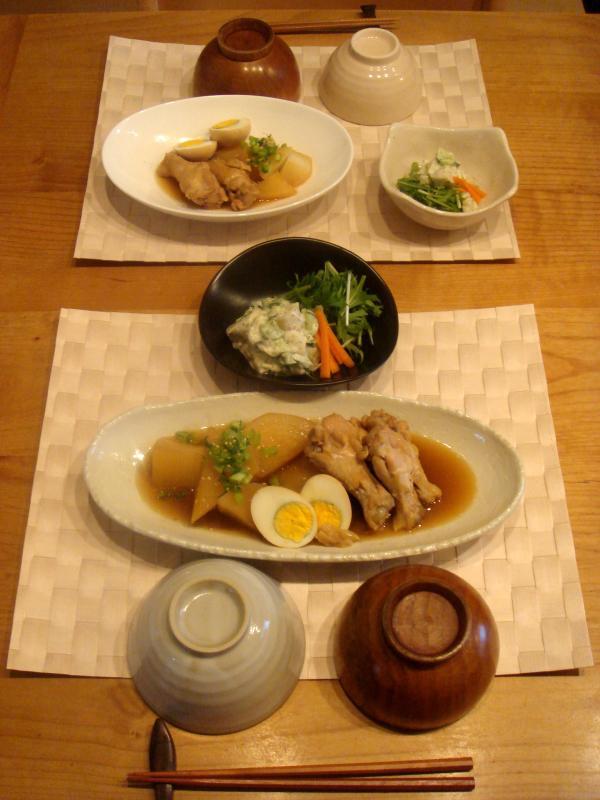 鶏肉 と 大根 の 煮物 献立